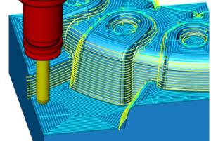3D 等高線最適化加工