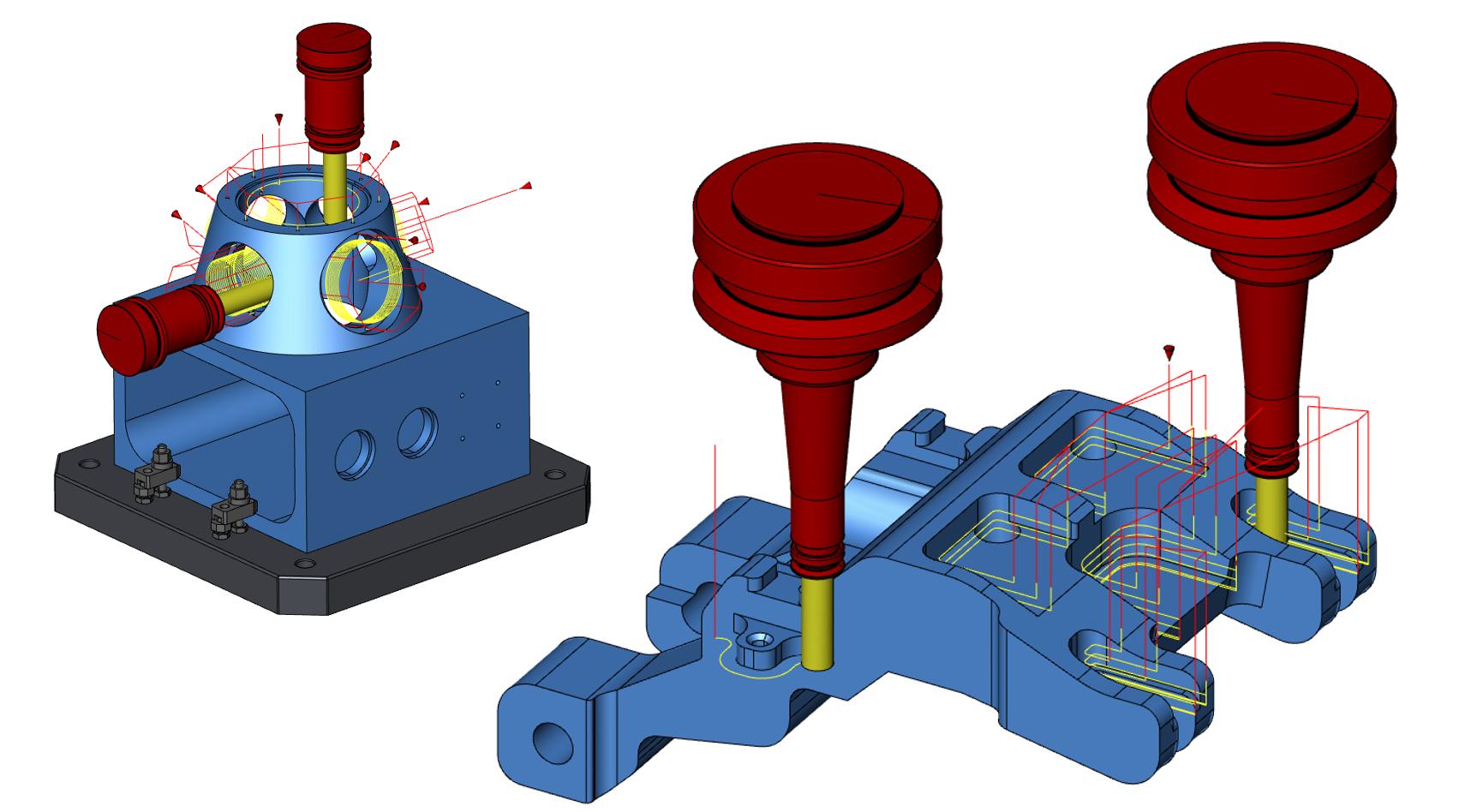 3Dモデルを認識した最新2軸加工