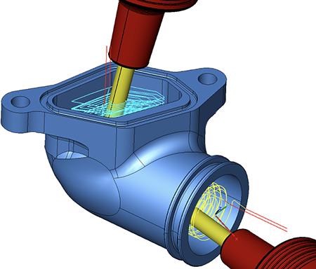 圧倒的なシンプル操作で同時5軸加工を実現
